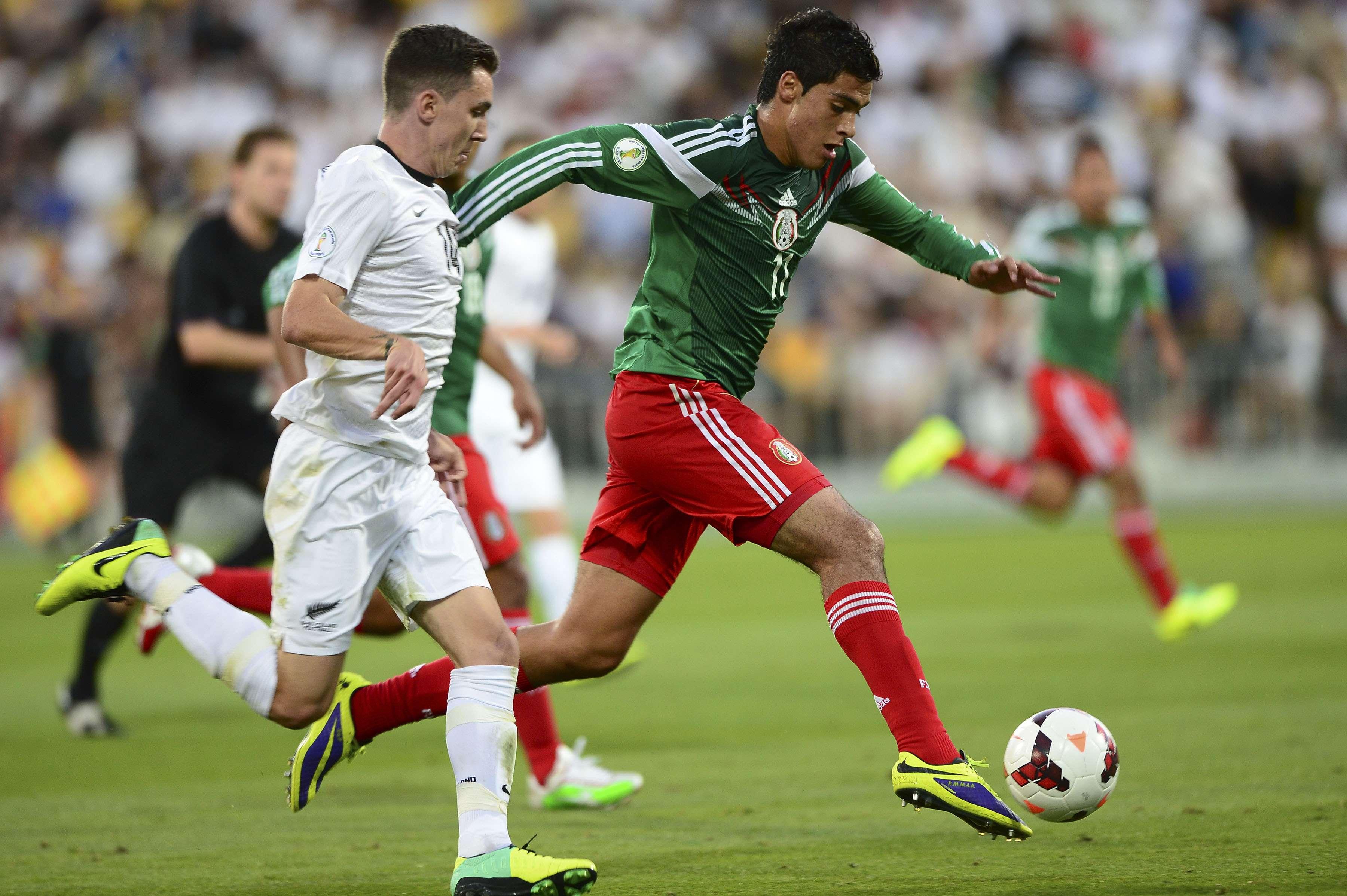 México enfrentó a Nueva Zelanda en el repechaje de Concacaf para el pasado Mundial en Brasil. Foto: Mexsport