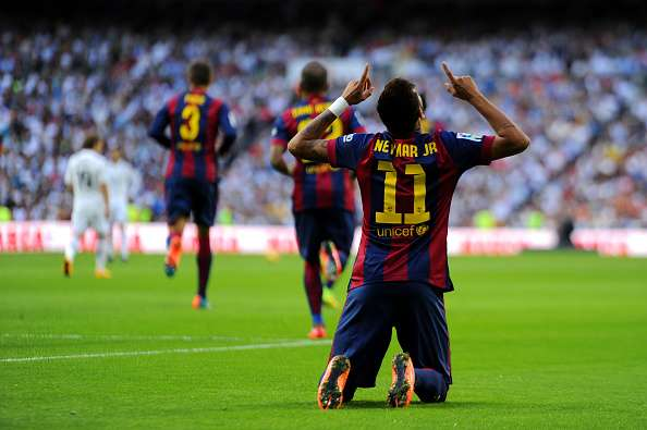 Neymar marcó su segundo gol ante el Real Madrid. Foto: Getty Images