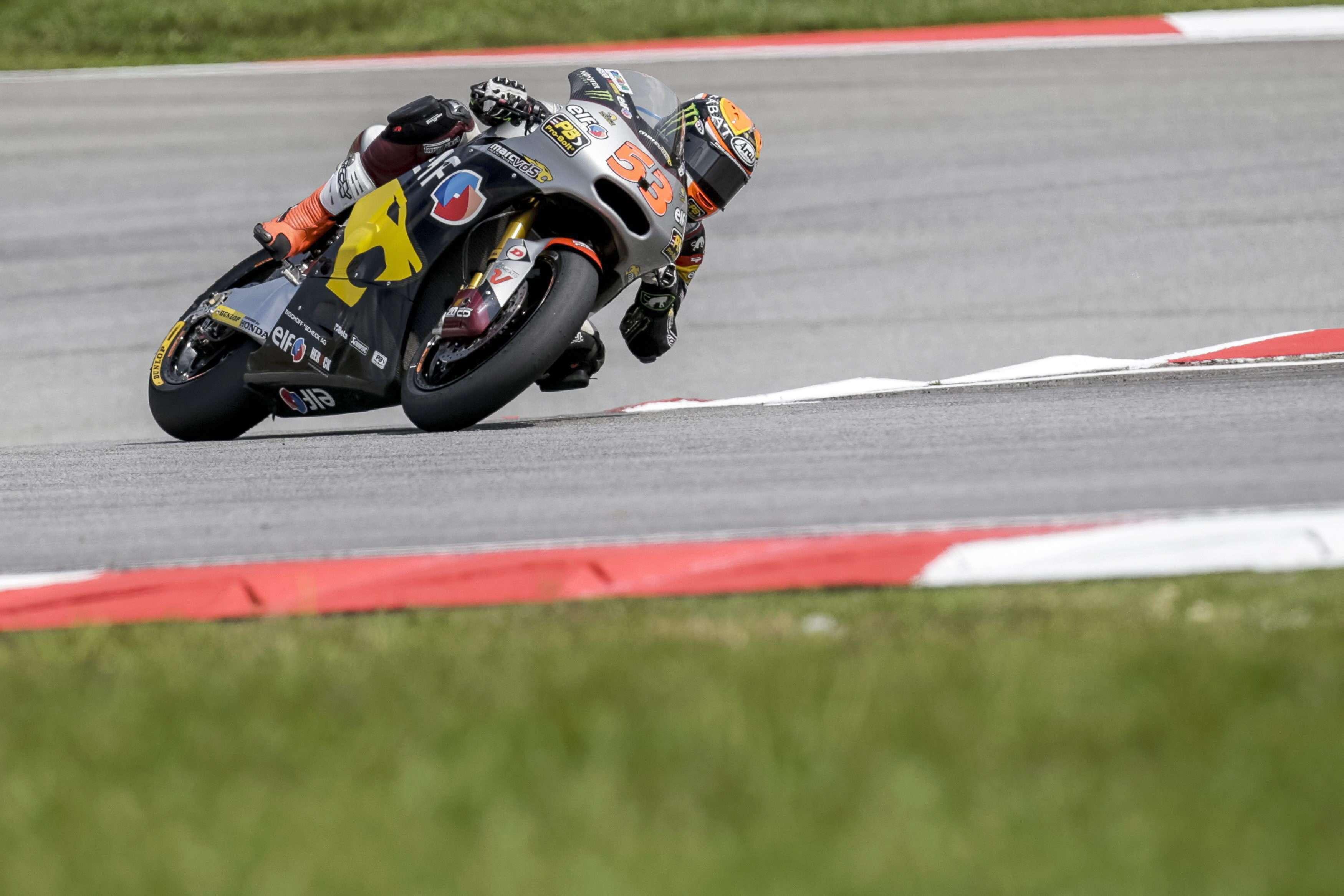 El español Rabat durante los entrenamientos libres del GP de Malasia de Moto2. Foto: EFE en español
