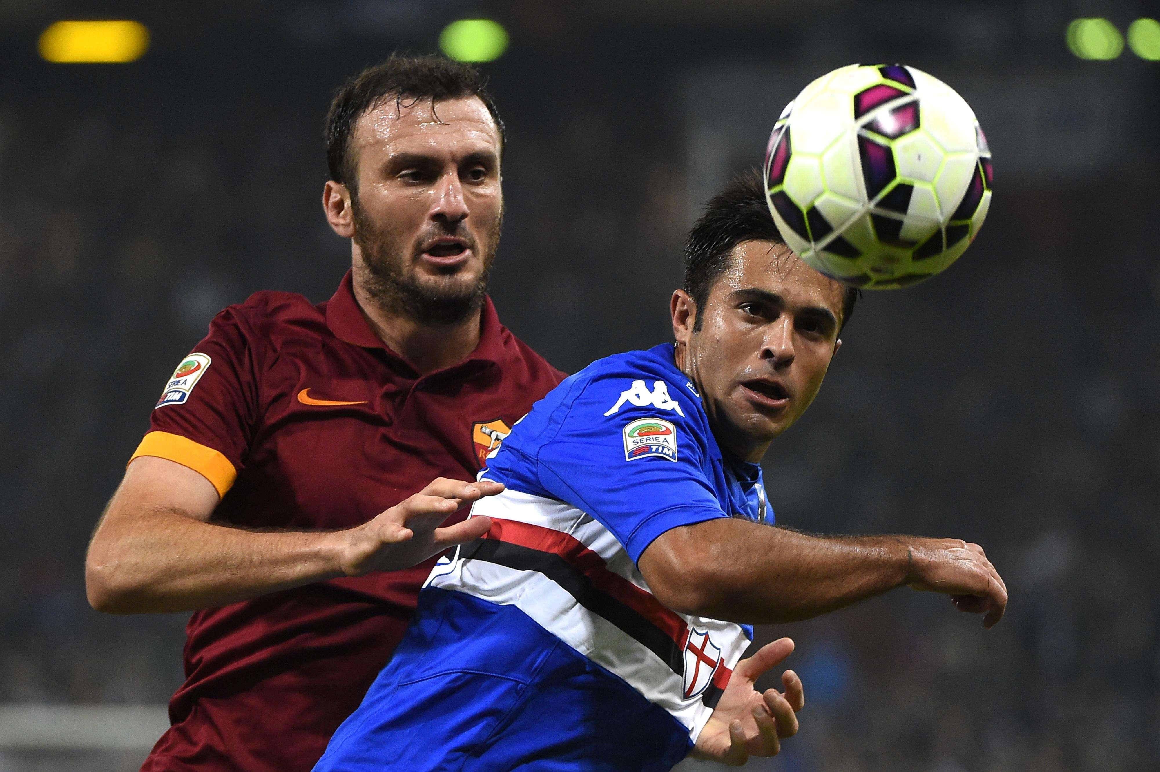 Roma y Sampdoria no se hicieron daño. Foto: AFP