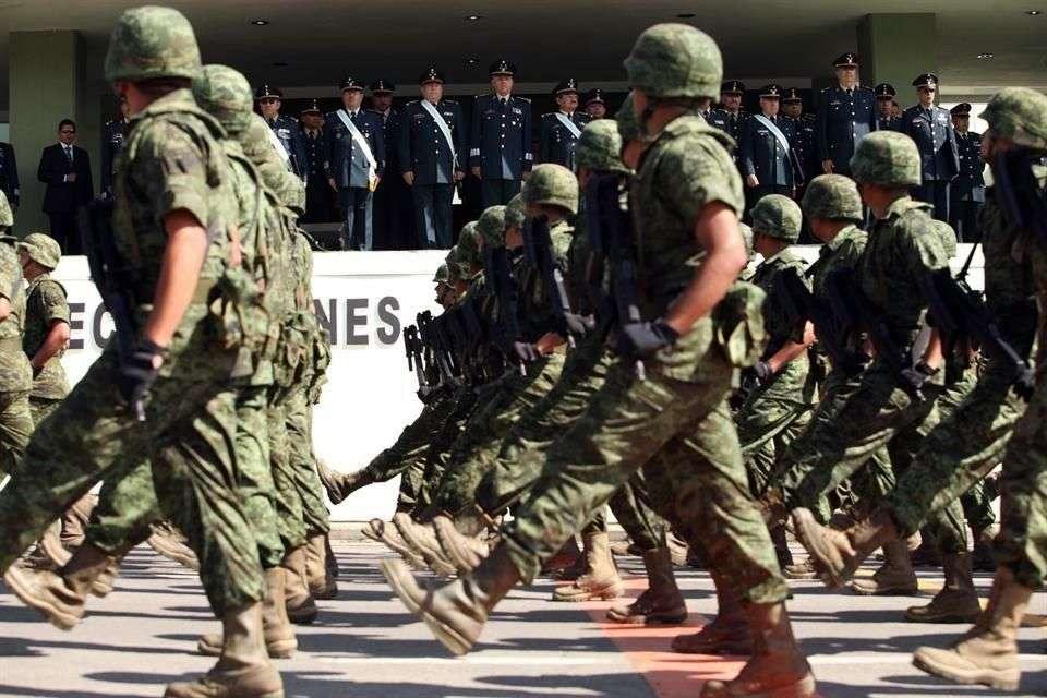El evento se realizó en la Plaza de la Lealtad de la Sedena Foto: Archivo/Reforma