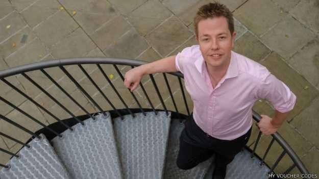 Mark Pearson comenzó con My Voucher Codes desde su computador portátil en un departamento arrendado en el sur de Londres. Foto: BBC Mundo/My Voucher Codes