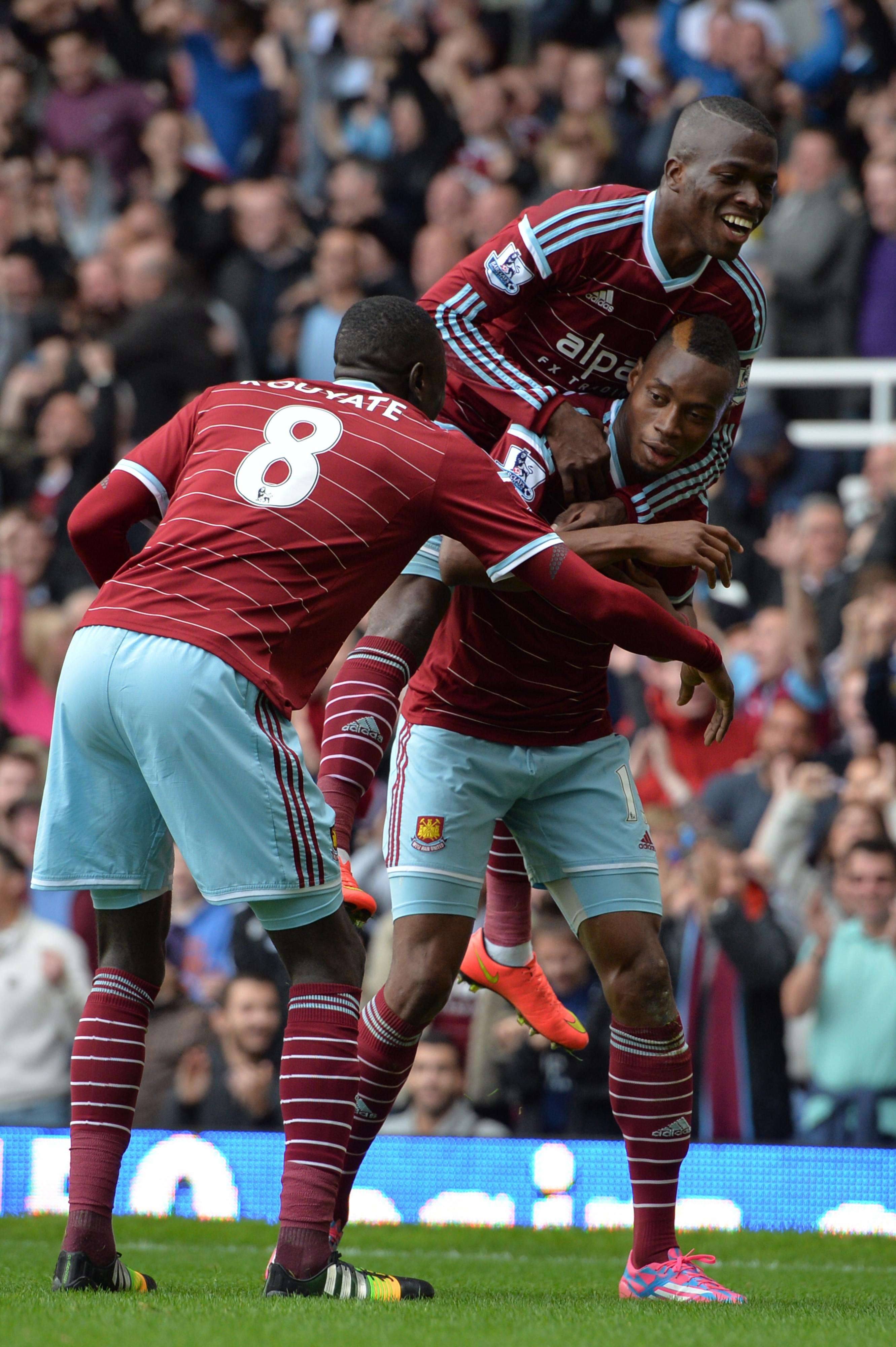 Jugadores del West Ham festejan la victoria. Foto: AFP