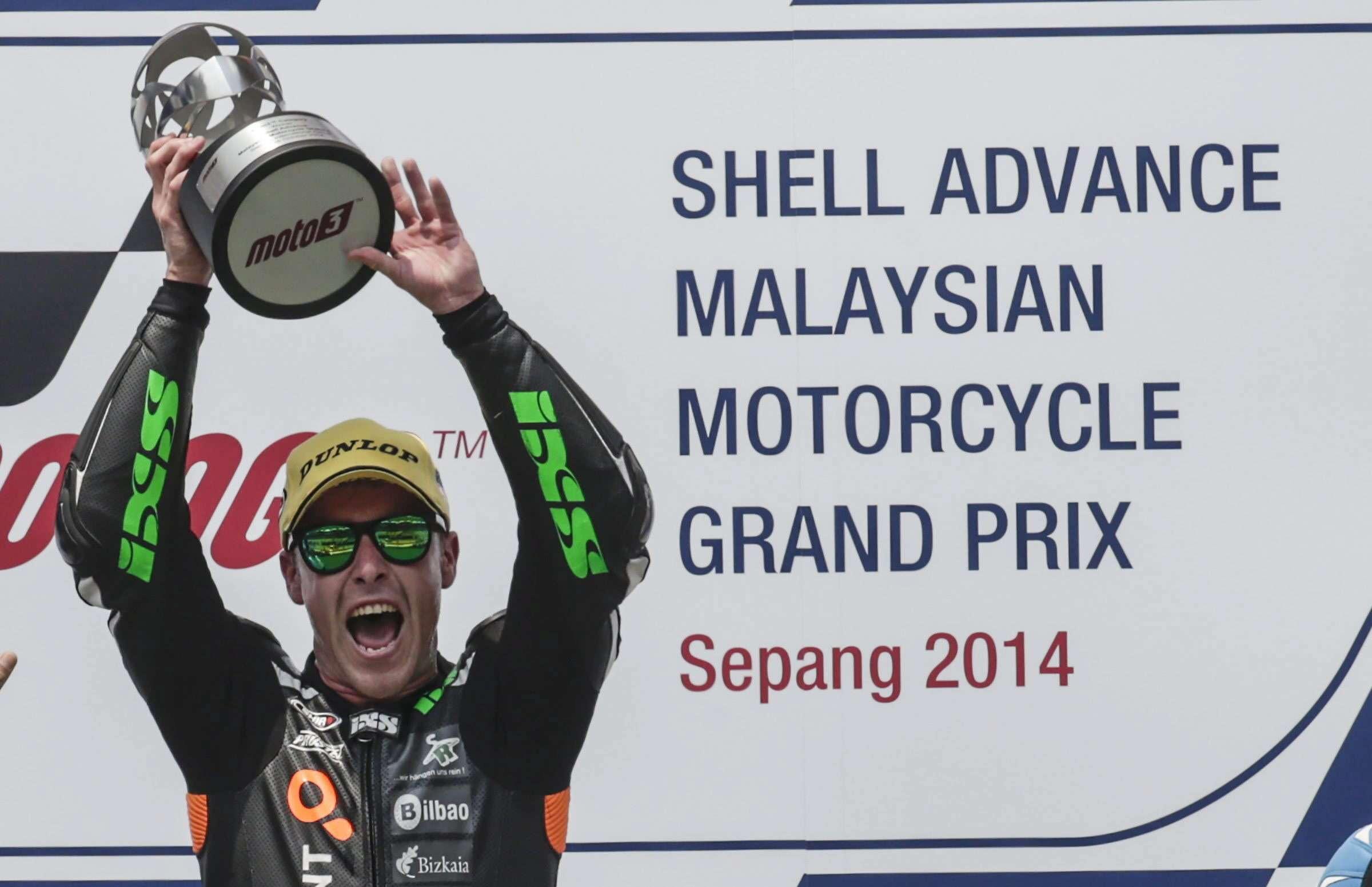 Efrén Vázquez, de Moto3, consigue la victoria en el GP de Malasia. Foto: EFE en español