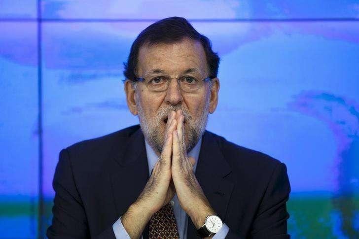 O primeiro-ministro da Espanha, Mariano Rajoy, durante reunião do comitê executivo do Partido Popular, em Madri, na Espanha, na semana passada. 20/10/2014 Foto: Paul Hanna/Reuters