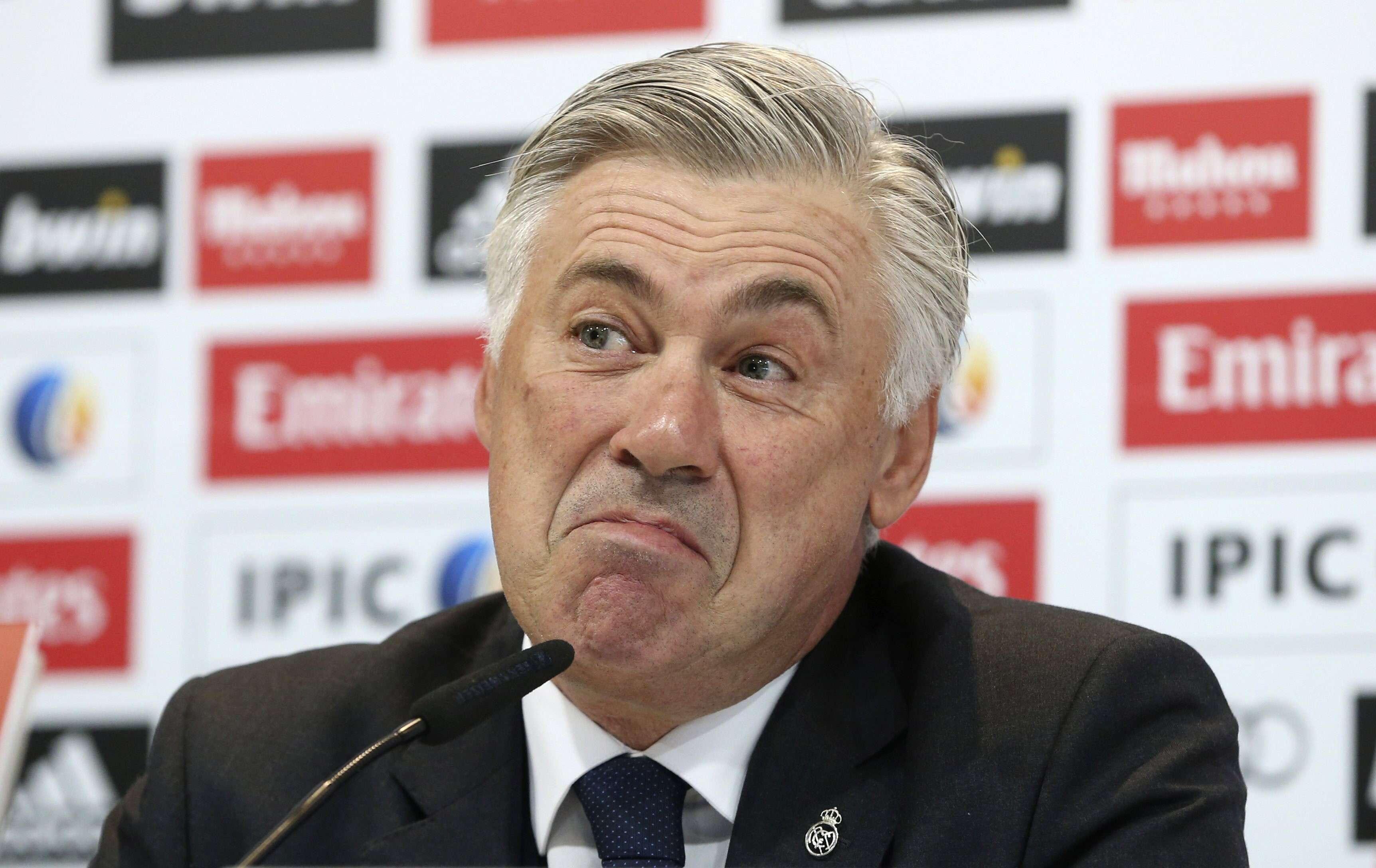 """Ancelotti discordou de chefe da Fifa e disparou: """"impossível calar a boca do Blatter"""" Foto: JJ Guillén/EFE"""