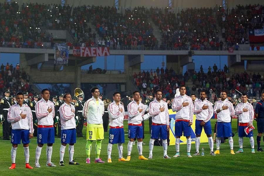 Chile juega con Venezuela en Talcahuano. Foto: Agencia UNO