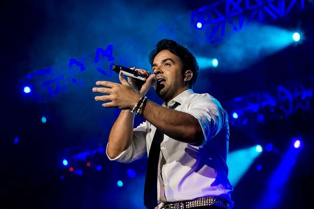 El cantante Puertoriqueño Luis Fonsi se presentó anoche en el Movistar Arena en su gira Somos Uno Tour. Foto: Agencia UNO