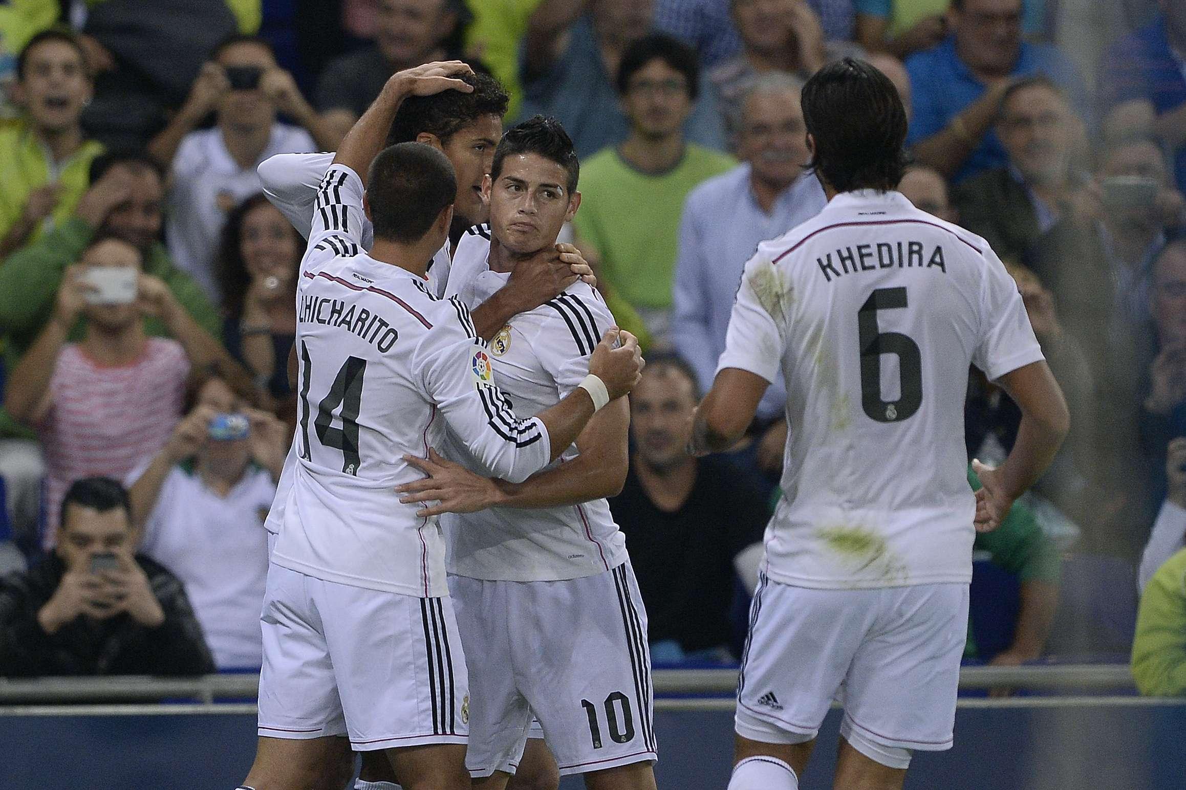 "Javier ""Chicharito"" Hernández anotó el tercer gol del Real Madrid. Foto: AFP"