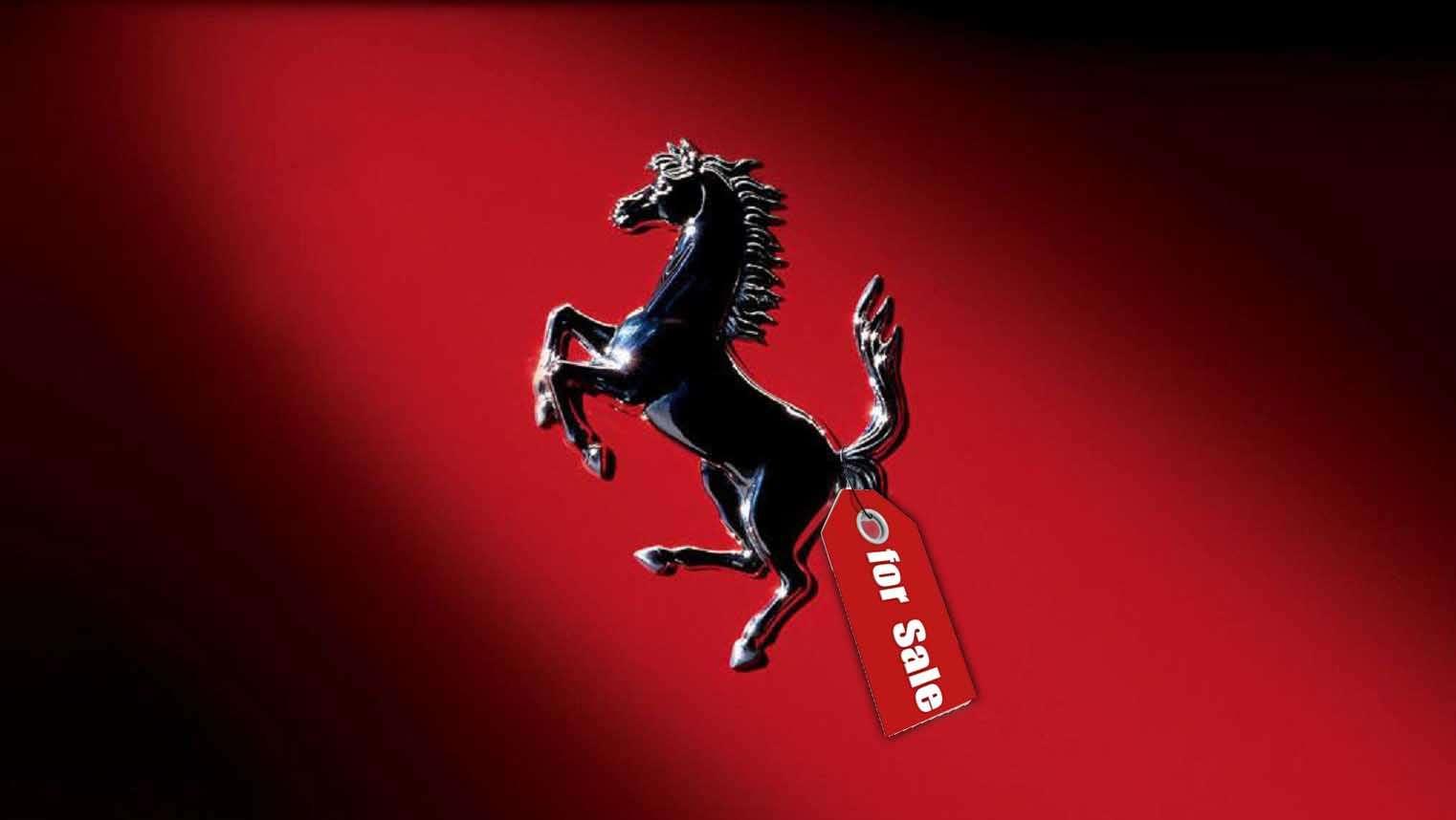 Logo Ferrari con etiqueta de venta Foto: Terra