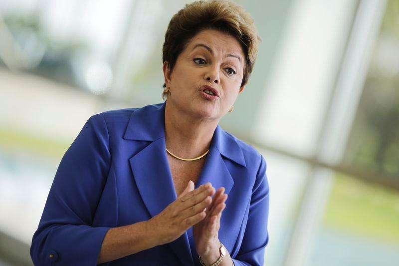 A presidente Dilma Rousseff fala à imprensa em Brasília, no início de outubro. 10/10/2014 Foto: Ueslei Marcelino/Reuters