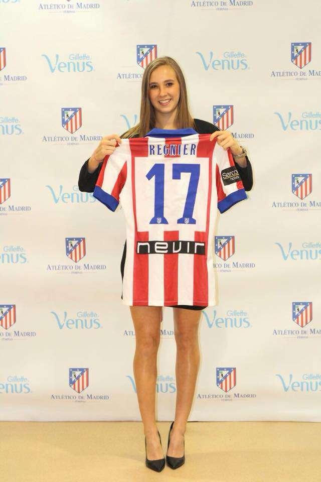 Nicole Regnier acaba de firmar para el Atlético de Madrid en España. Foto: Tomada de Facebook Nicole Regnier