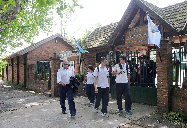 El frente del colegio. Foto: Agencias