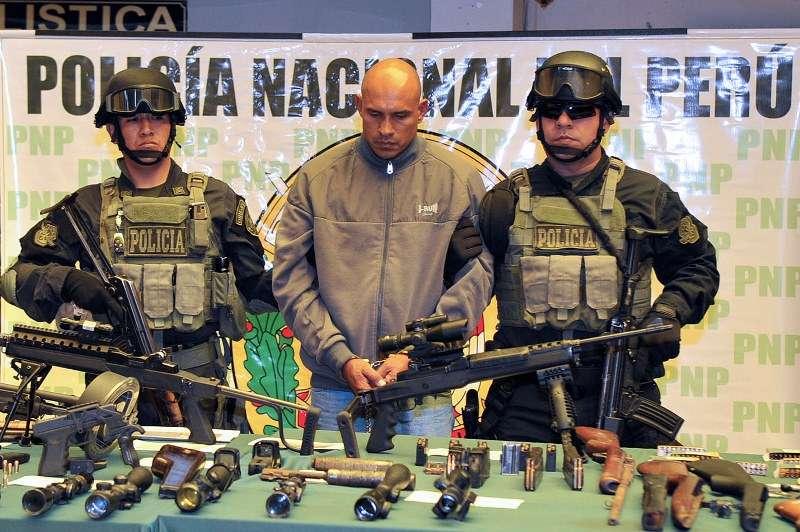 Ricardo Peñuela Gómez (44) , de nacionalidad colombiana, fue detenido por el presunto delito de secuestro y robo agravado. Foto: Mininter