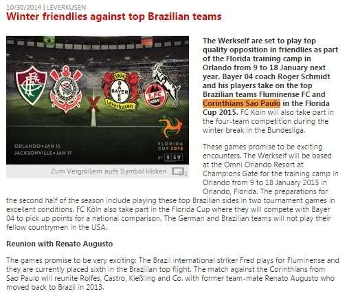 Foto: Site oficial Bayer Leverkusen/Reprodução