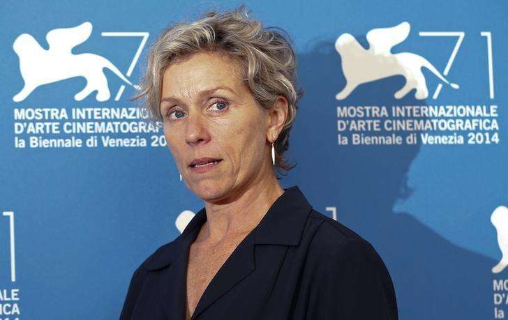 "Cast member Frances McDormand poses during a photocall for the TV mini-series ""Olive Kitteridge"" at the 71st Venice Film Festival September 1, 2014. Foto: Tony Gentile/Reuters"