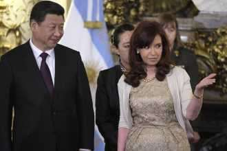 Cristina con el presidente de China, Ji Jinping. Foto: Noticias Argentinas