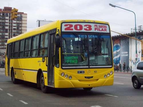 La línea 203 de colectivos. Foto: archivo