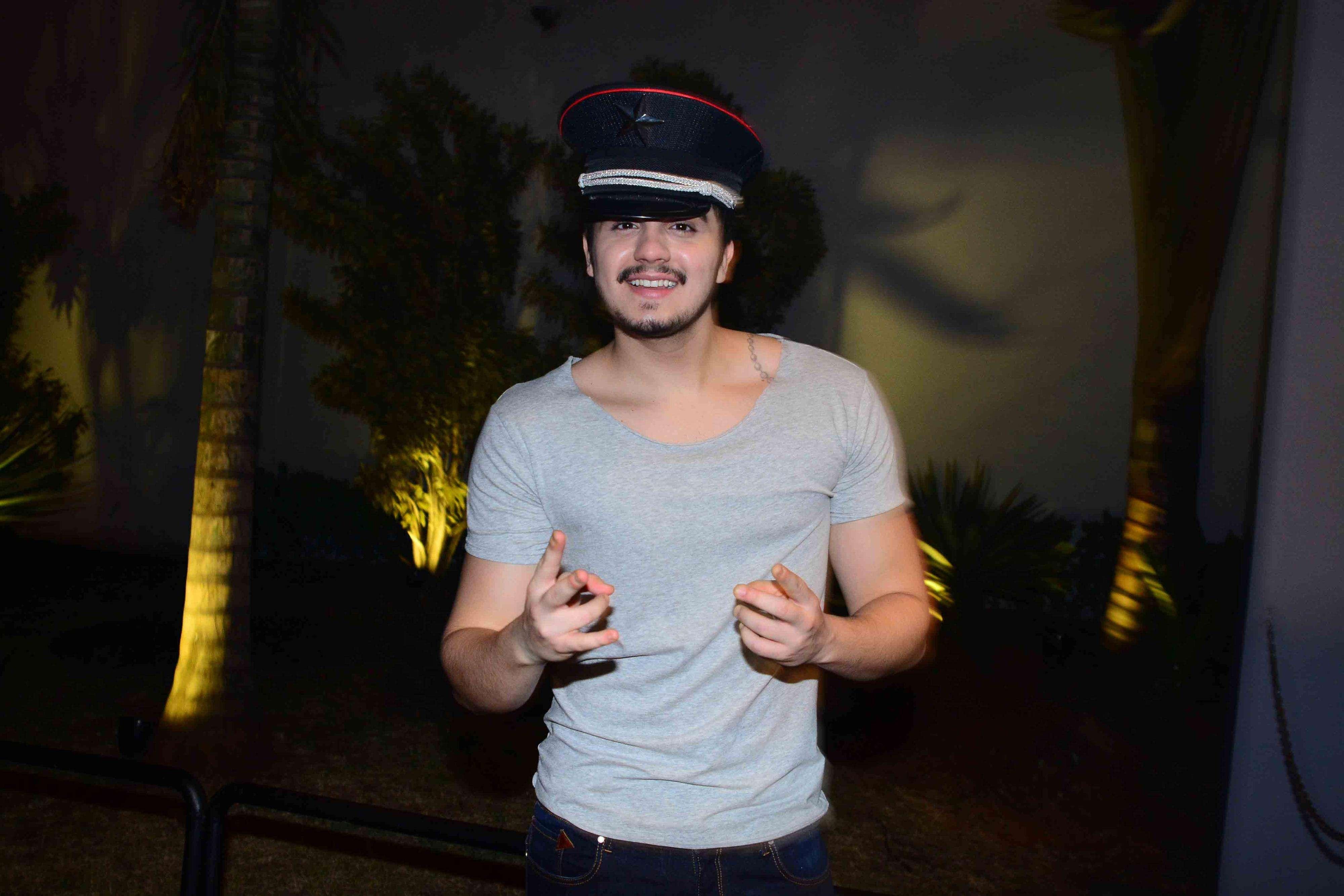 Luan Santana promove festa de Halloween em SP Foto: AgNews