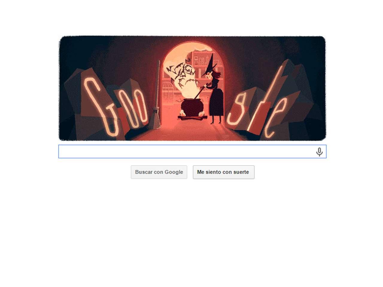 Este 31 de octubre Google, el buscador más famoso del mundo, celebra la llegada del Halloween 2014 con un doodle animado. Foto: Google