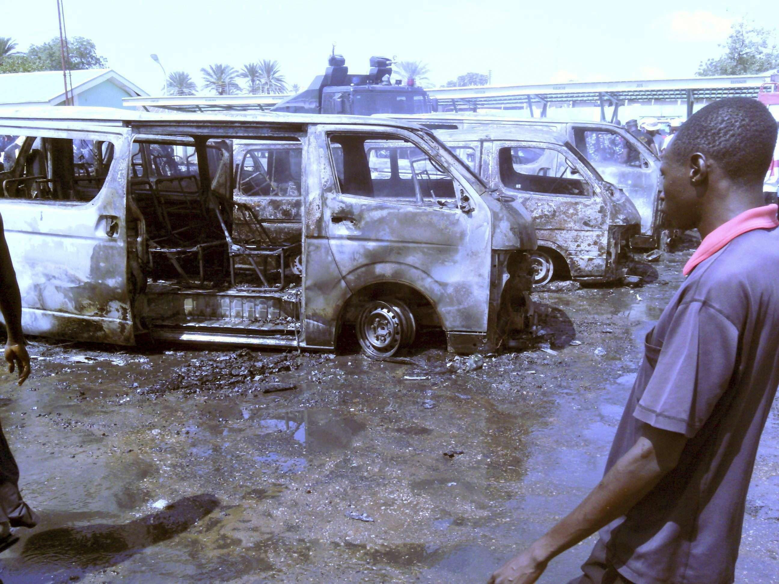 La explosión se produjo a una hora punta, en la popular estación de autobuses regulares de Gombe. Foto: EFE en español