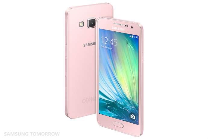 Novo Galaxy A3 será comercializado a partir de novembro, começando pela China Foto: Samsung/Divulgação