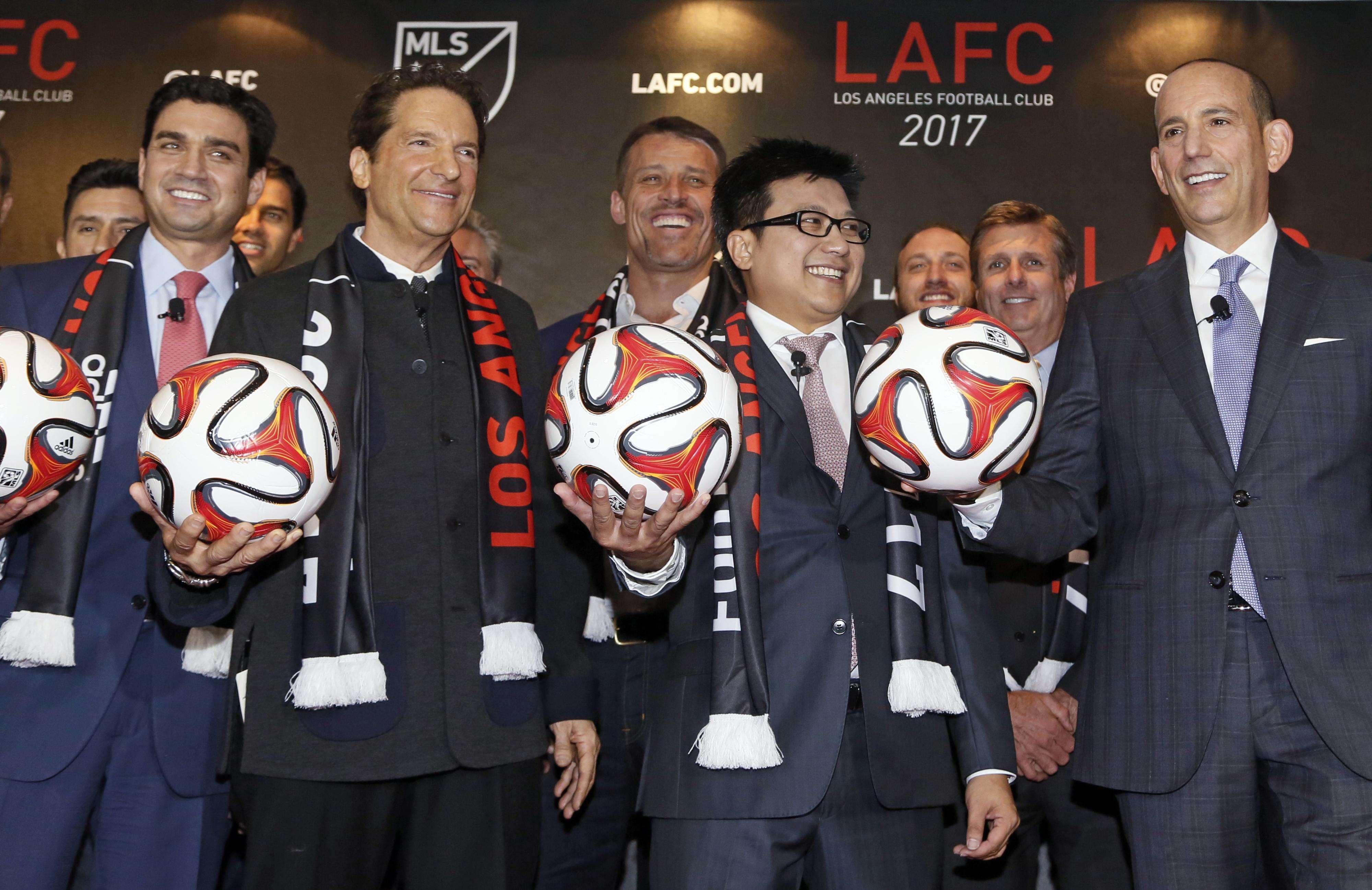 Presentación de Los Ángeles FC. Foto: AP