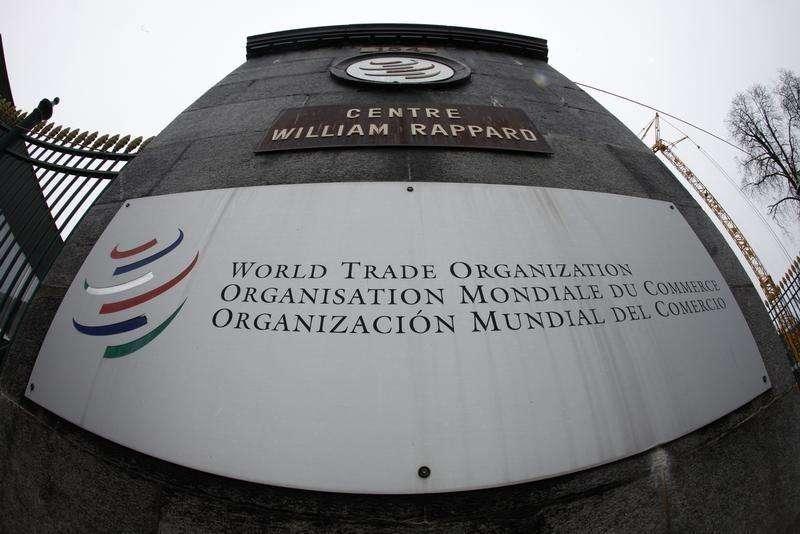 Logo da Organização Mundial do Comércio (OMC) na sede da entidade, em Genebra. 09/04/2013 Foto: Ruben Sprich/Reuters