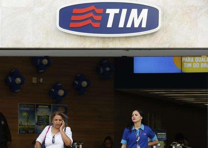 Loja da companhia de telefonia móvel Tim no centro do Rio de Janeiro. 20/08/2014. Foto: Pilar Olivares/Reuters