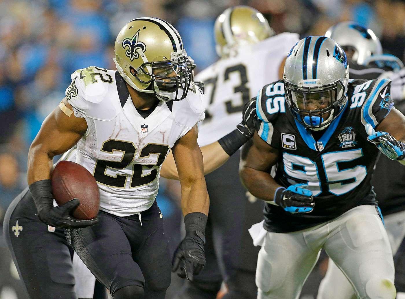 Drew Brees se recuperó de un mal comienzo, lanzó para un touchdown y corrió para otro más para guiar a los New Orleans Saints al triunfo por 28-10 sobre los Carolina Panthers y tomar por asalto el primer lugar en la NFC Sur. Foto: AP