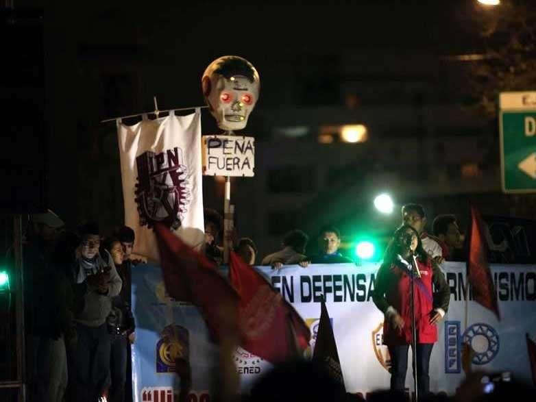 Los estudiantes reiteraron la convocatoria al paro nacional para el martes 5 de noviembre. Foto: Reforma/Óscar Mireles
