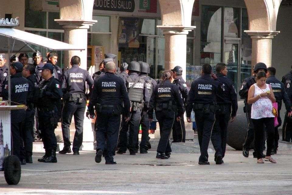 Más de 200 elementos de la Gendarmería Nacional arribaron a Irapuato el pasado 1 de septiembre Foto: Archivo/Reforma