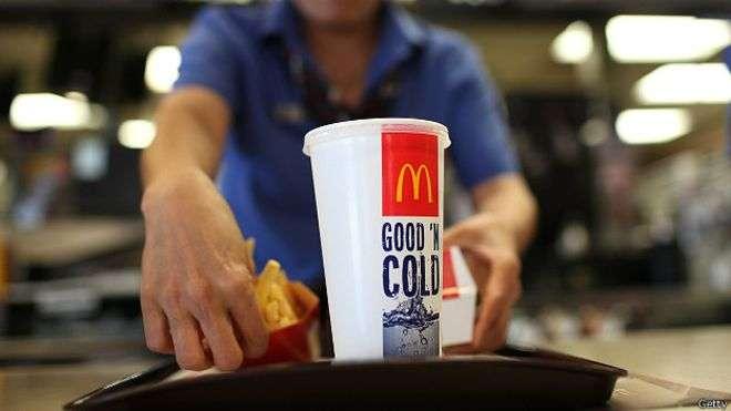 Mc Donald's, que tem 34 mil restaurantes em 119 países, registrou no terceiro trimestre de 2014 uma queda de 3,3% nas vendas globais Foto: Getty Images