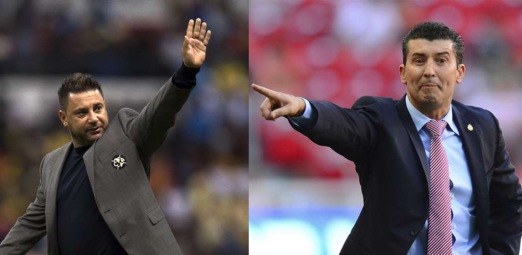 "Antonio Mohamed contra José Manuel ""Chepo"" de la Torre. Foto: Mexsport"