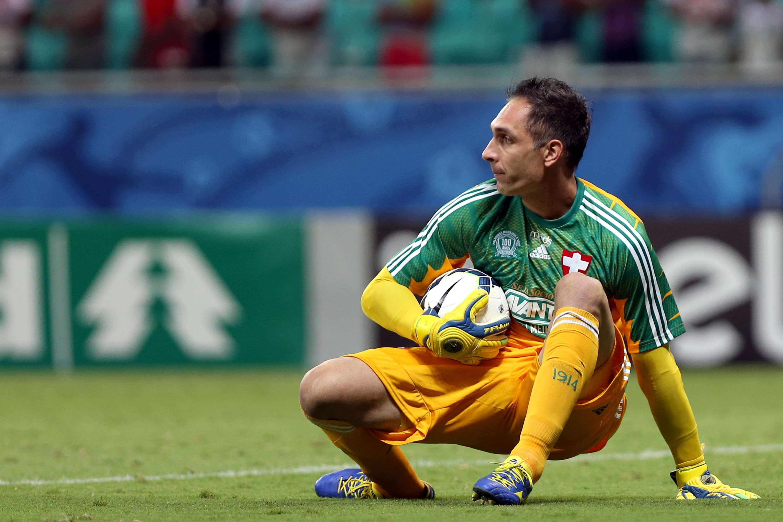 Fernando Prass mostrou segurança durante toda partida Foto: Felipe Oliveira/Getty Images