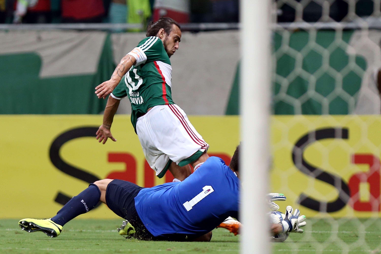 Valdivia foi o destaque palmeirense na Arena Fonte Nova Foto: Felipe Oliveira/Getty Images