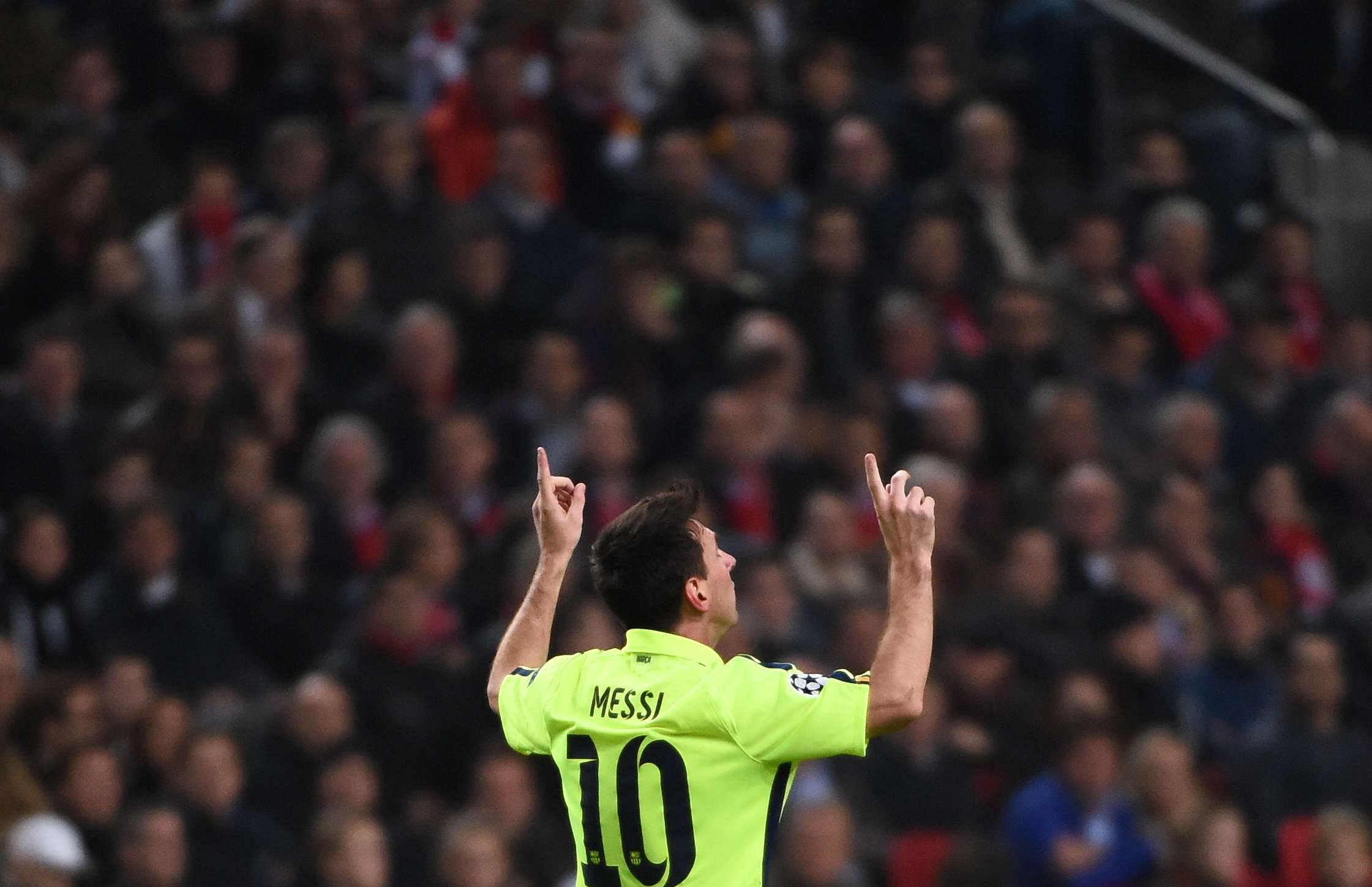 Lionel Messi igualou Raúl no recorde de gols na Liga dos Campeões Foto: Emmanuel Dunand/AFP