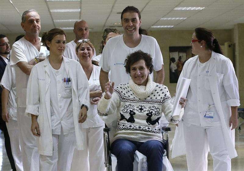 La auxiliar de enfermería Teresa Romero, que ha sido dada de alta hoy tras superar el ébola. Foto: EFE en español