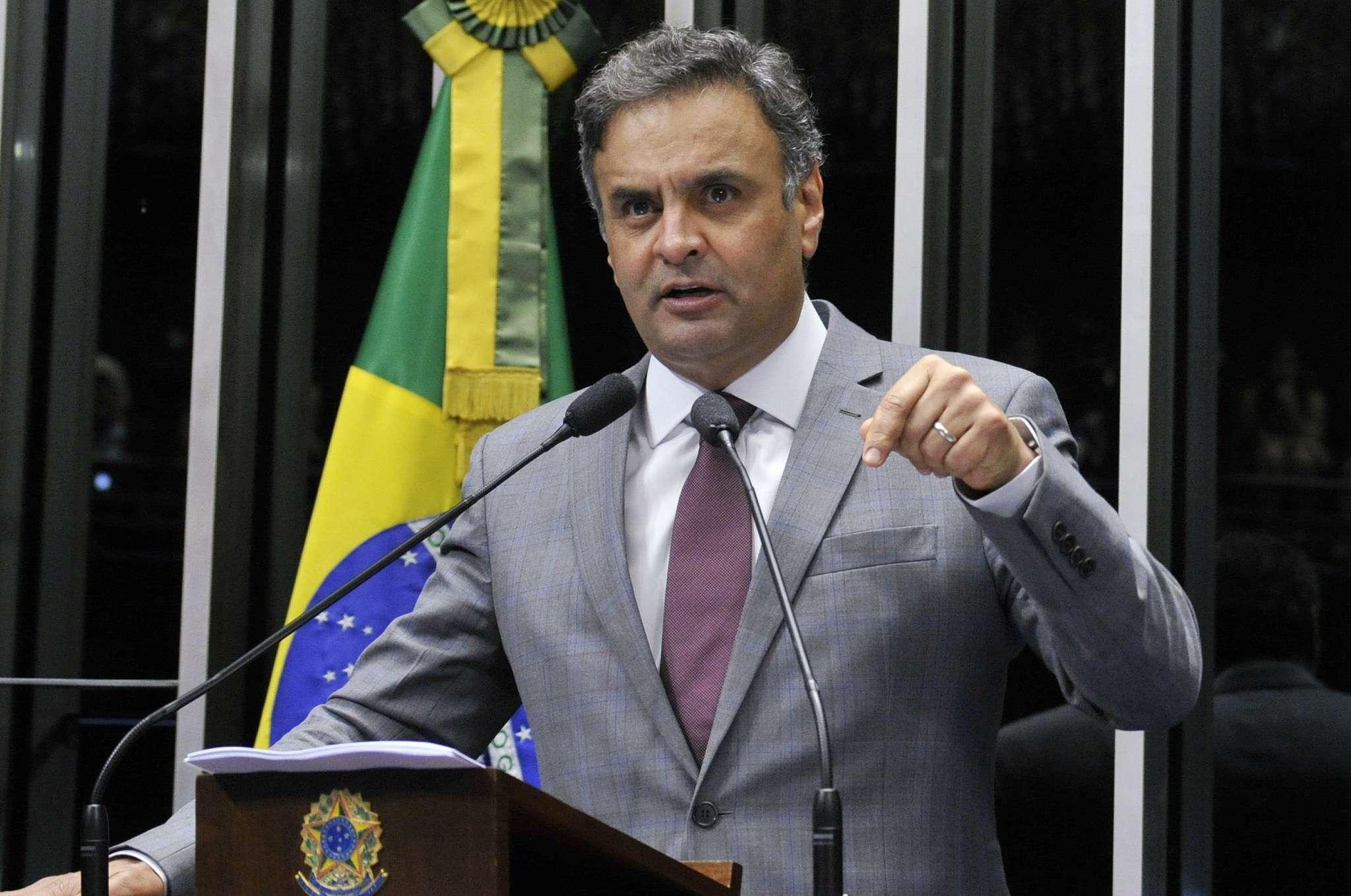 Aécio Neves faz seu primeiro discurso na tribuna do Senado após as eleições Foto: Geraldo Magela/Agência Senado