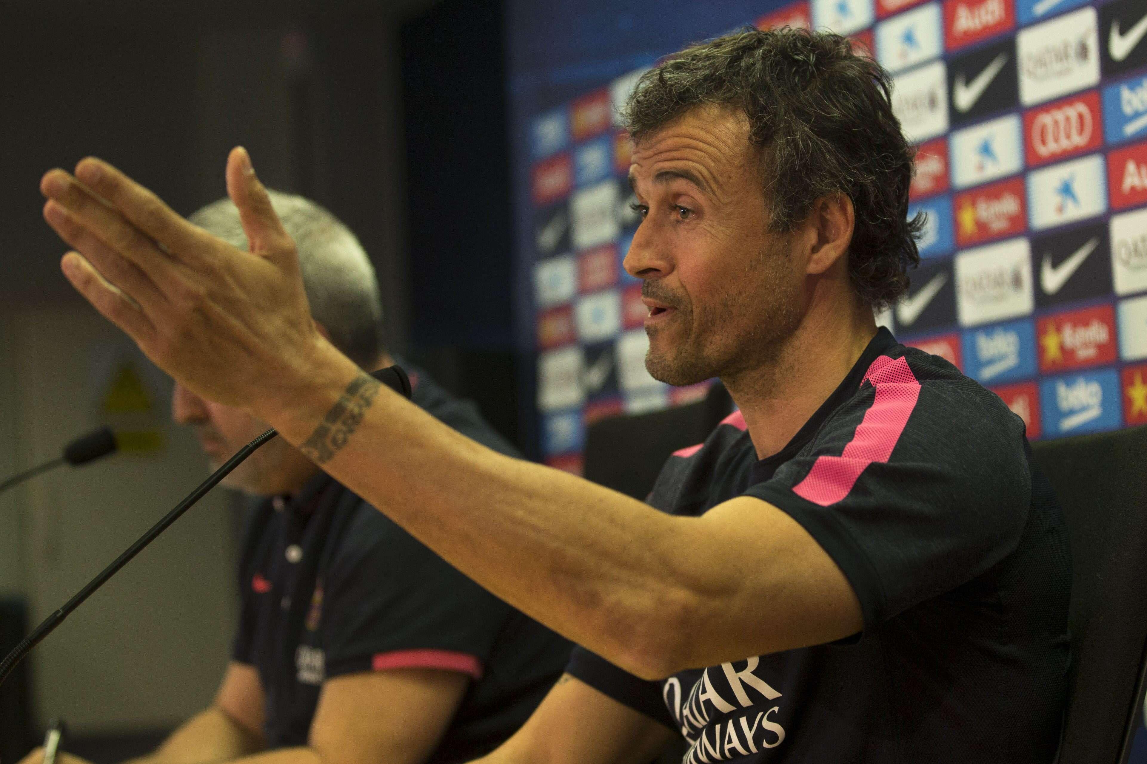 Luis Enrique, entrenador del Barcelona. Foto: EFE en español