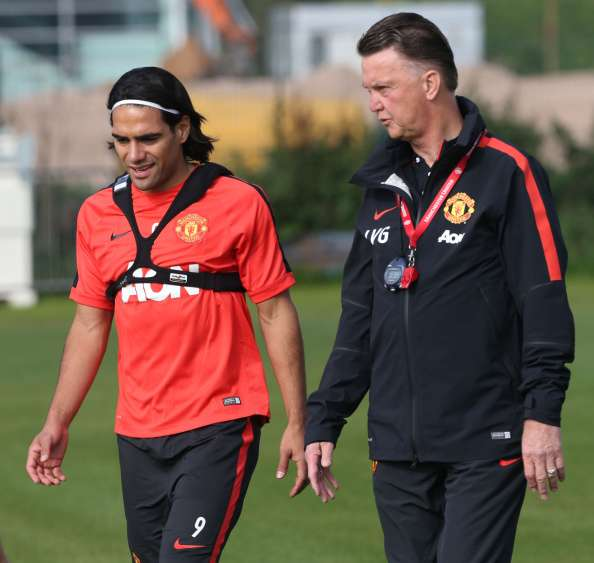 Falcao ha jugado 250 minutos bajo el mando de Van Gaal. Foto: Getty Images