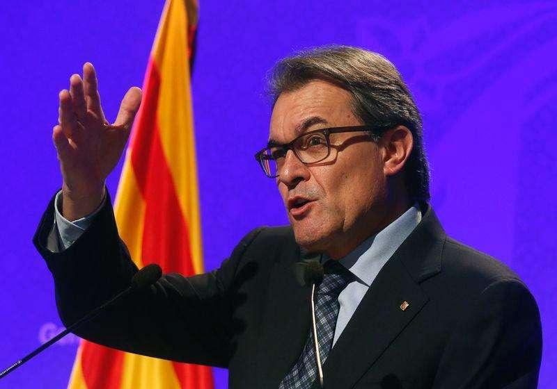 Presidente da Catalunha, Artur Mas, em entrevista coletiva no Palau de la Generalitat, em Barcelona. 11/11/2014 Foto: Albert Gea/Reuters