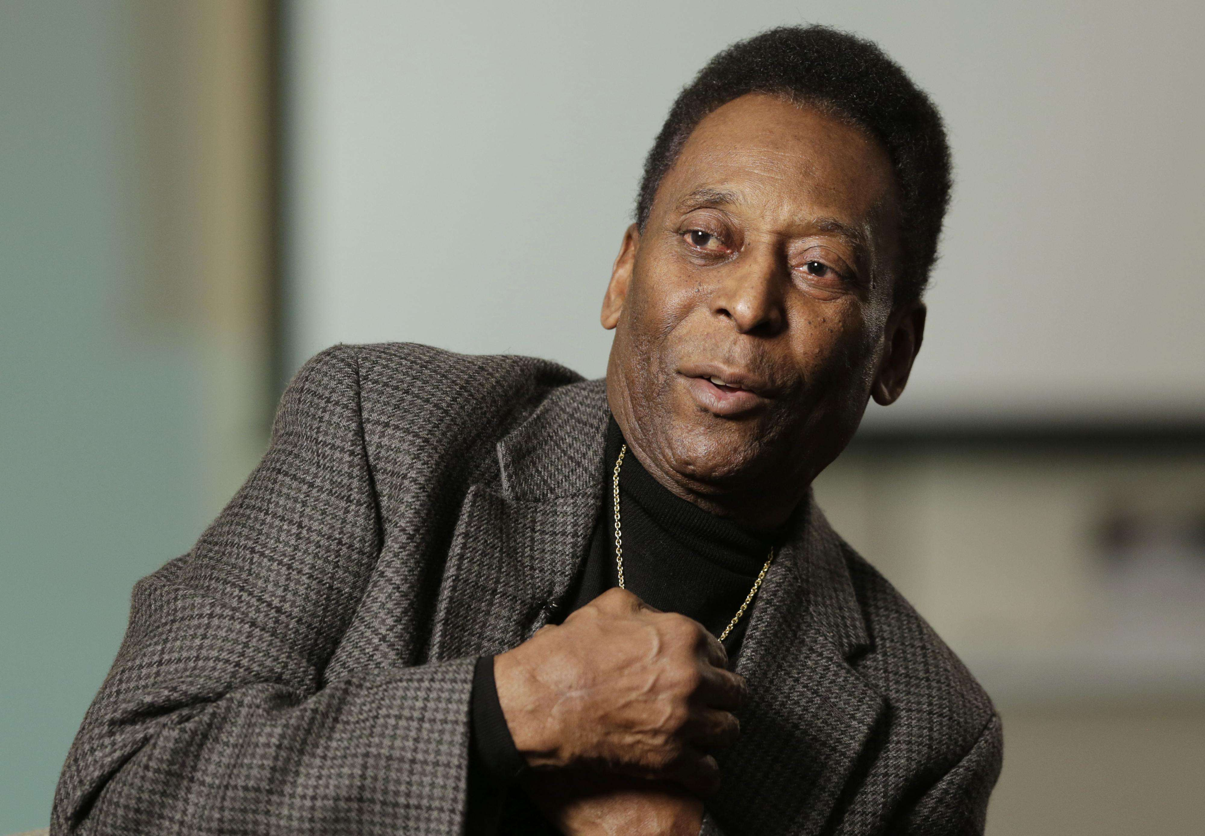 Pelé fue hospitalizado. Foto: AP