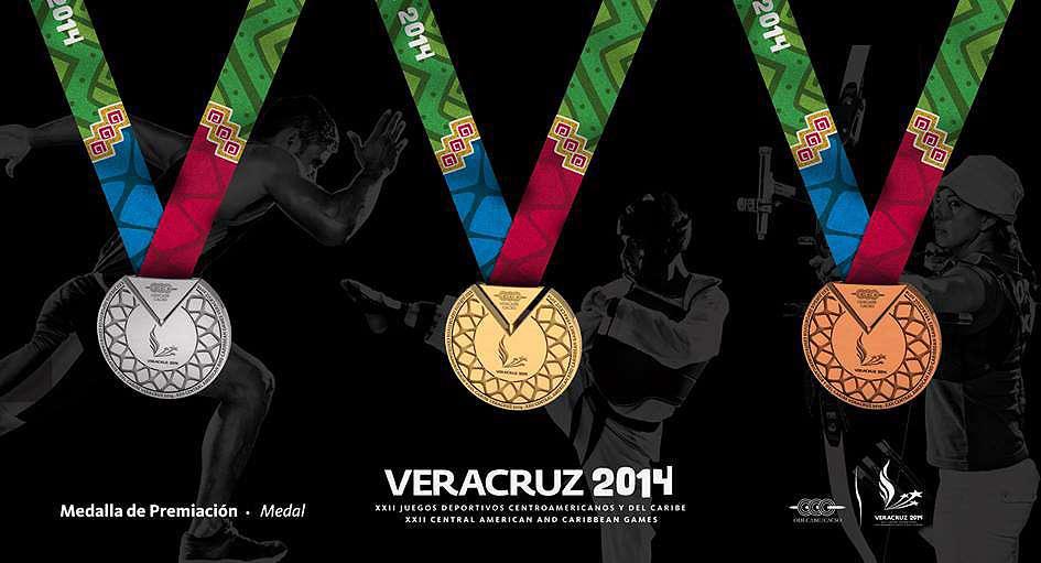 Así son las medallas para los ganadores de los Juegos Centroamericanos y del Caribe 2014. Foto: Tomado de http://veracruz2014.mx/