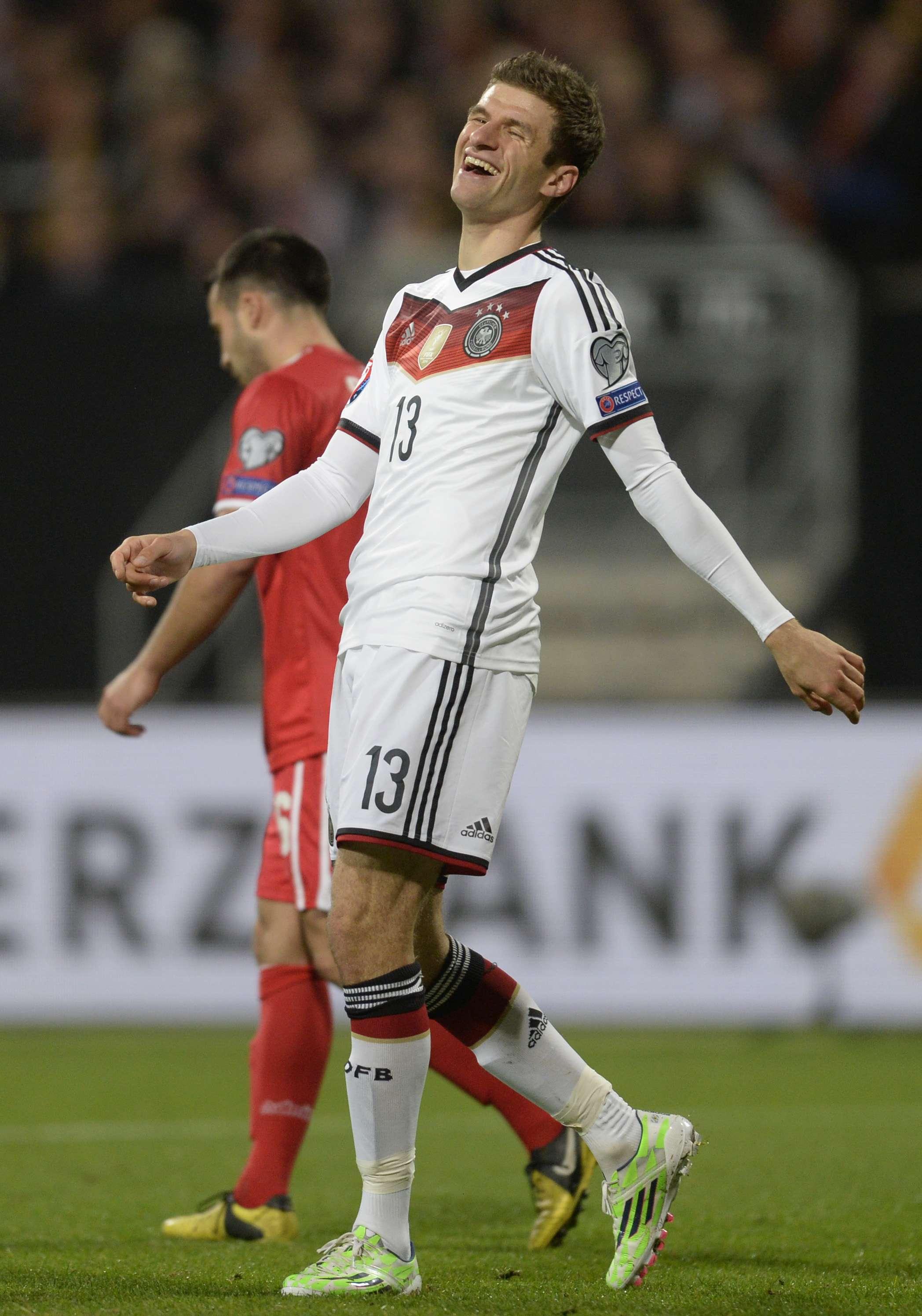 Thomas Müller manteve sua veia goleadora pela Alemanha Foto: Christof Stache/AFP