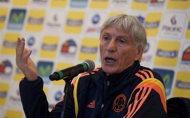 José Pekerman durante una rueda de prensa celebrada en Londres, Reino Unido, la semana pasada. Foto: EFE en español