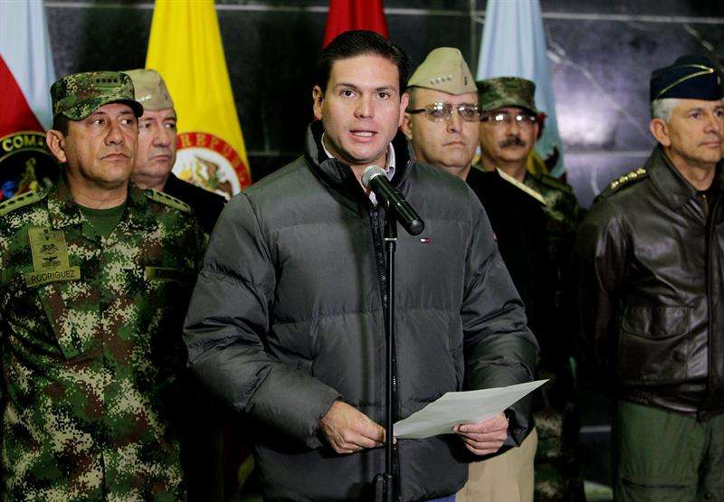Ministro de Defensa, Juan Carlos Pinzón, este 17 de noviembre. Foto: EFE en español