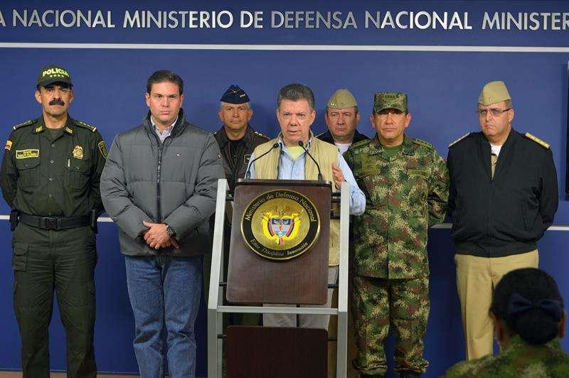 Anuncio del presidente Juan Manuel Santos. Foto: EFE en español