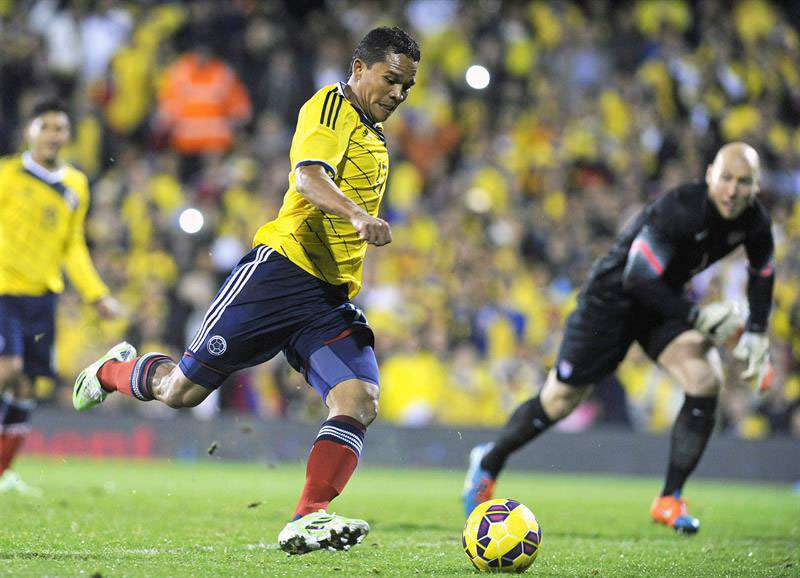 Bacca hizo uno de los goles en el amistoso frente a EE.UU. Foto: EFE en español