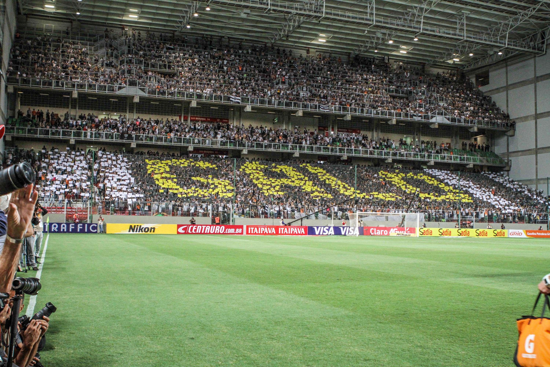 Time alvinegro teve torcida única na partida de ida, vencida por 2 a 0 Foto: Bruno Cantini/Clube Atlético Mineiro/Divulgação